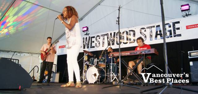 Sibel Thrasher at Burnaby Blues and Roots