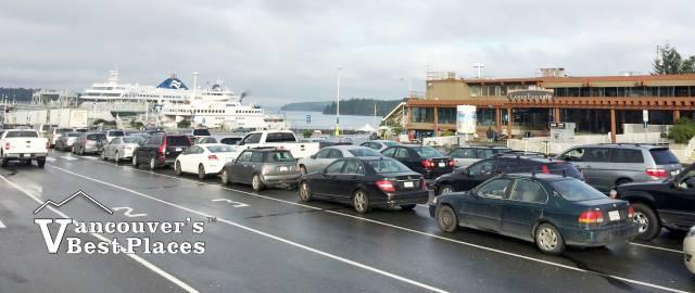 Tsawwassen Ferry Lineup