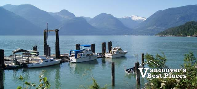 Boats in Howe Sound