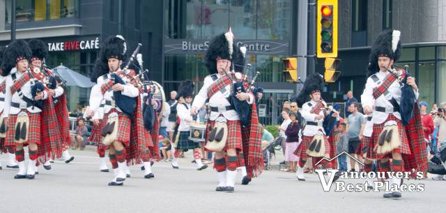 J.P. Fell Pipe Band in Canada Day Parade
