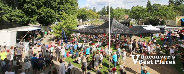 Fort Langley Jazz Festival Crowds