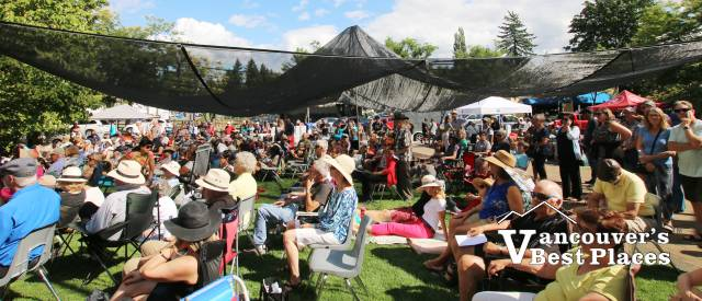 Jazz Festival Crowds in Fort Langley