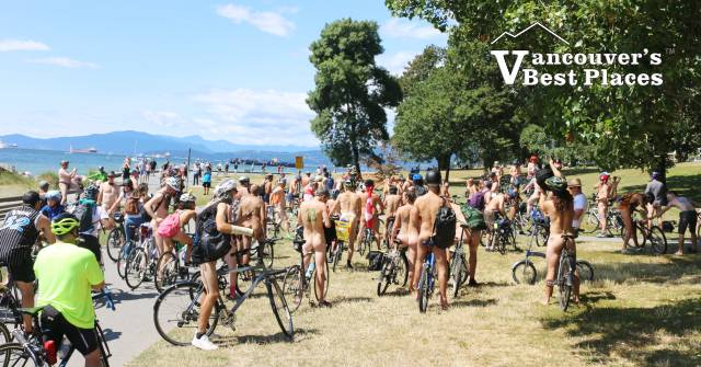 Naked Cyclists at Sunset Beach