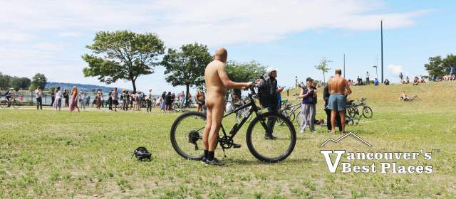 Naked Man at Sunset Beach