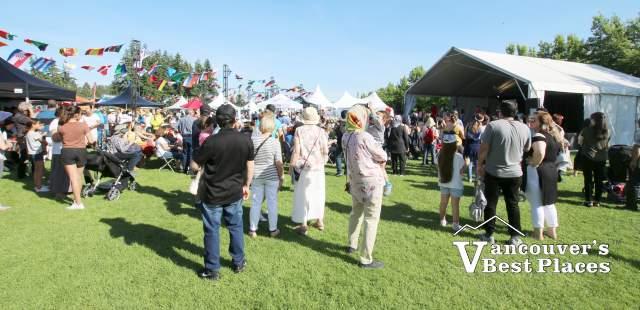 People at West Van Bridge Festival