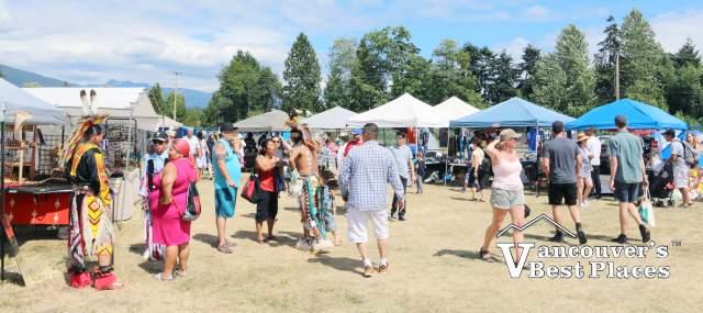 Squamish Powwow Market Crowds