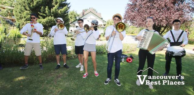 Noxious Obs Society Band at Fort Langley Station