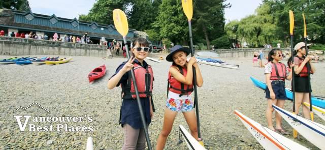 Japanese Kayakers at Deep Cove