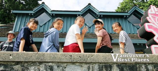 Japanese Students in Deep Cove