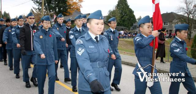 Cadets in Coquitlam Remembrance Day Parade