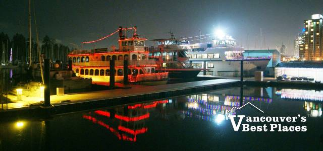 Harbour Cruise Boats at Christmas