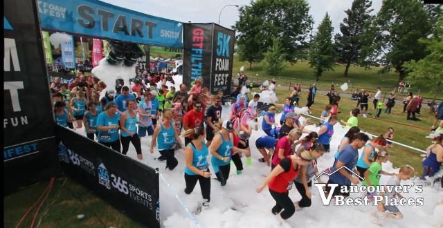 5K Foam Fest Runners