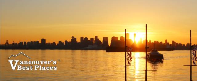 Vancouver Winter Sunset View