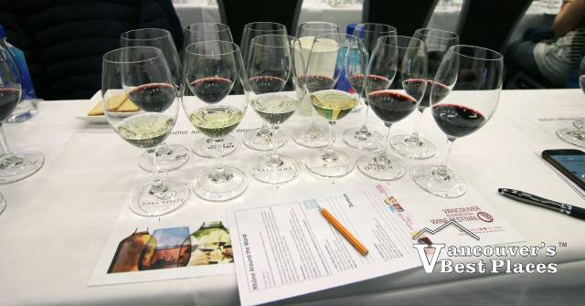 Wine Samples at Wine Festival Workshop