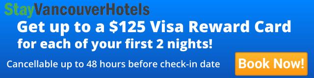 StayVancouverHotels $125 Visa Offer Ad