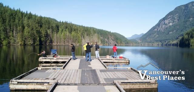 Dock at Buntzen Lake