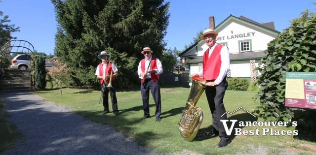 Members of the Fort Langley RazzMaJazz Ensemble