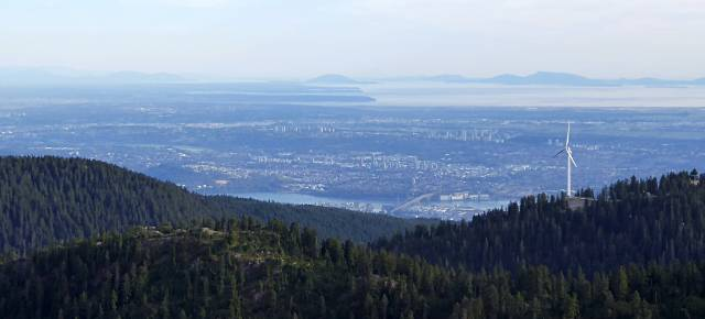 Grouse and Vancouver View from Goat Mountain