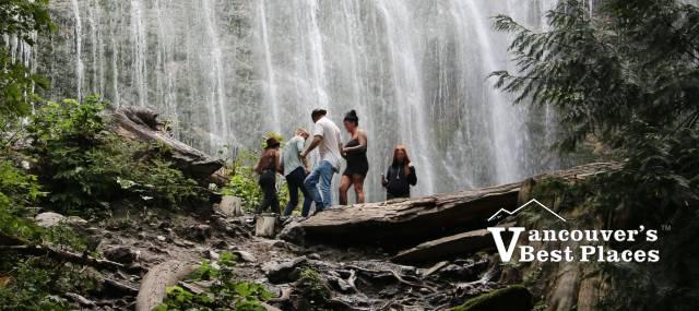People at Bridal Falls