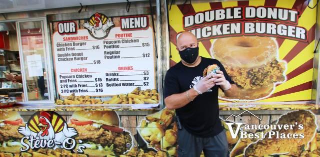 Steve O's Fried Chicken Burger Vendor