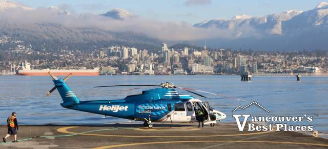 Vancouver Heliport and North Shore View