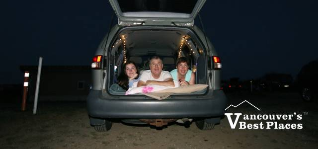 Family at Twilight Drive-in Movie