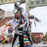 Indigenous Dancer in Chinatown