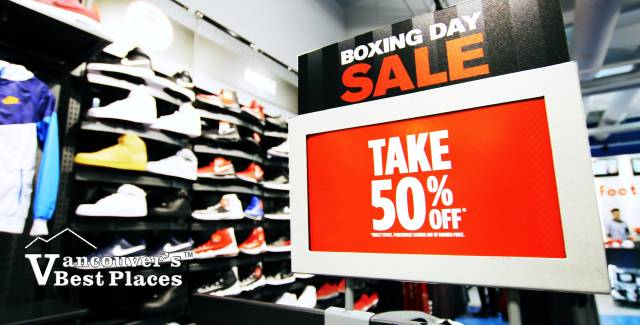 Boxing Day Sales in Vancouver