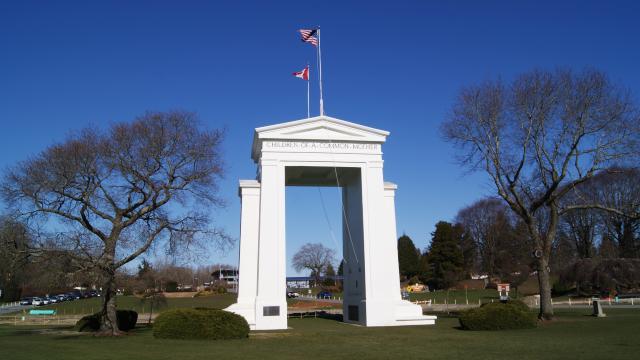 Canada-US Peace Arch Border Crossing