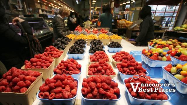 Granville Island Market Vendor Fruit Display