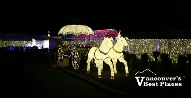 Glow Christmas Carriage Light Display