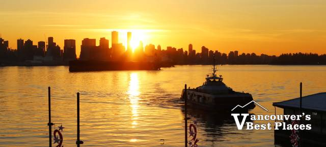 Vancouver and SeaBus December Sunset