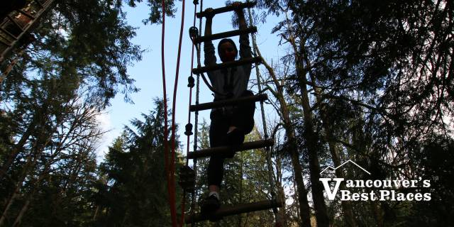 Ropes-Climbing Silhouette