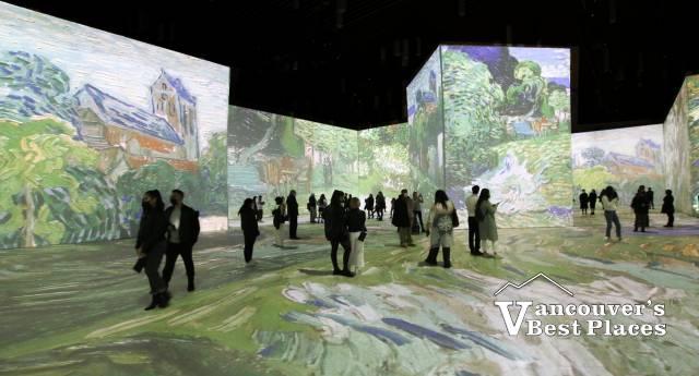 Van Gogh on Walls and Floor