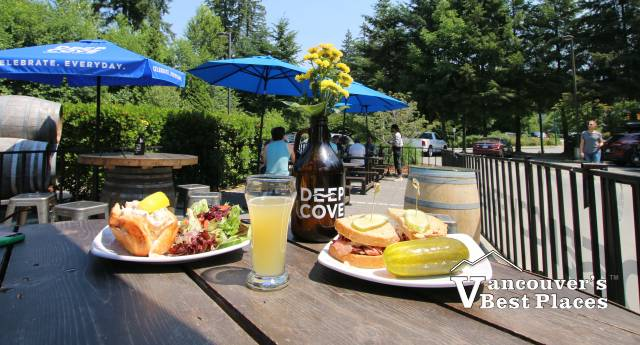 Beer and Lunch at Deep Cove Brewery