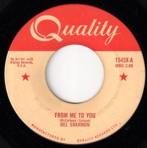 From Me To You By Del Shannon/The Beatles
