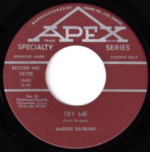 Margie Rayburn - Try Me 45 (Apex).jpg