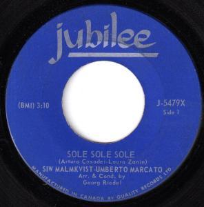 Siw Malmkvist & Umberto Marcato - Sole Sole Sole 45 (Jubilee Canada).jpg
