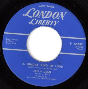 A Sunday Kind of Love by Jan and Dean