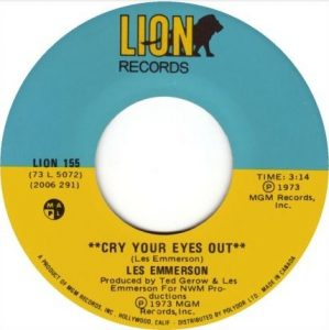 Cry Your Eyes Out by Les Emmerson