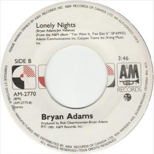 Lonely Nights by Bryan Adams