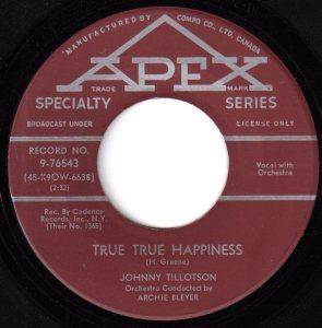 True, True Happiness by Johnny Tillotson