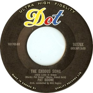 The Exodus Song by Pat Boone