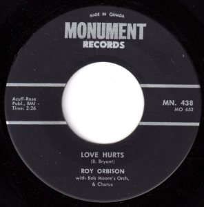 Love Hurts by Roy Orbison
