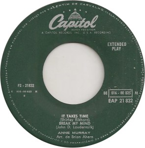 It Takes Time by Anne Murray