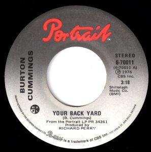 Your Back Yard by Burton Cummings