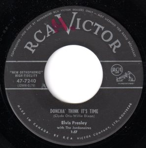 Elvis Presley - Doncha' Think It's Time 45 (RCA Victor Canada)