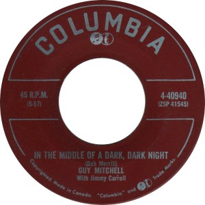 In The Middle Of A Dark, Dark Night by Guy Mitchell