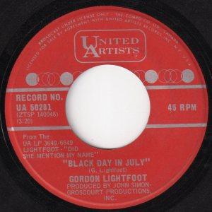 Black Day In July by Gordon Lightfoot
