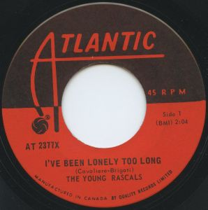 Young Rascals - I've Been Lonely Too Long (Atlantic Canada)